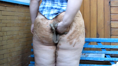 Bbw Girl Wipes His Ass Tights