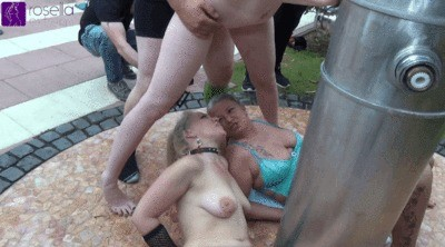 3 Piss-sluts In Piss-swallowing Madness Studs Horde Use Outdoor 2 Milfs And A Teen Girl As Pissioar