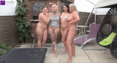 Kinky Outdoor Lesbo-piss Act With 4 Girls Plus A Premiere