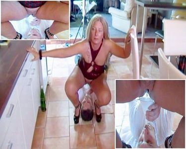Slave With A Hopper Filled With Piss
