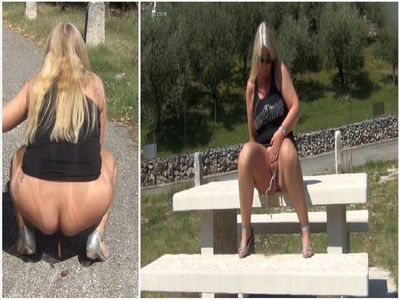Horny Public Pissing And Defecating On A Viewing Platform In Italy