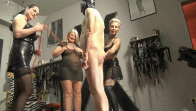 3 Mistresses Piss A Slave In The Mouth Part 1
