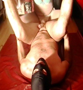 Mistress Fucking And Strocking Cock Until Cumming