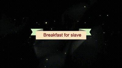 Breakfast For Slave