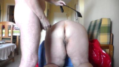 Spanking Her Ass And Piss On It