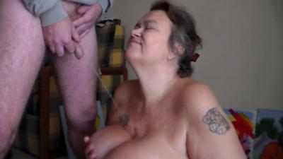 Pissing All Over Her Boobs