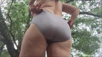 Silky Gray Panty Poop