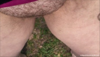 Close Up Outdoor Pee Very Little Poop