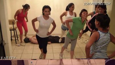 Toilet Slave's Aerobic Lessons Part 4