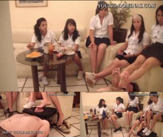 6 Students Fill Up Their Toilet Slave Part 1