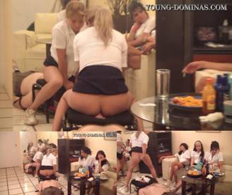 6 Students Fill Up Their Toilet Slave Part 3