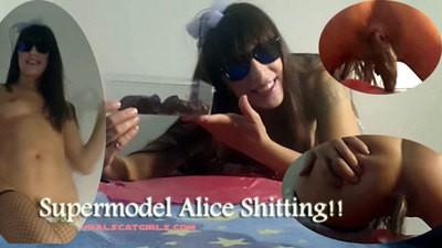 Supermodel Alice Shitting