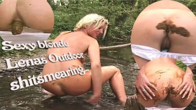 Dirty Blonde Lena Plays Shitgames Outdoor