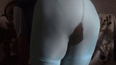 My Blue Messy Tights