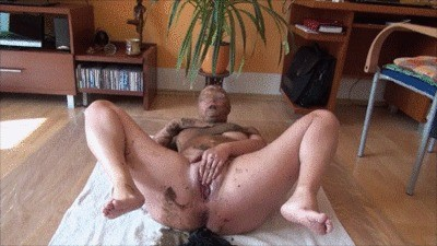 Scat Show In Pantyhose Encasement